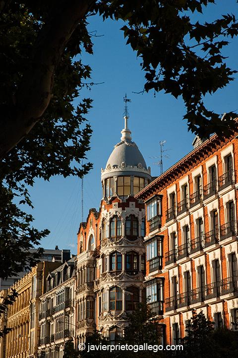 Casa del Príncipe. Acera de Recoletos. Edificios del siglo XIX. Valladolid. Castilla y León. España. © Javier Prieto Gallego