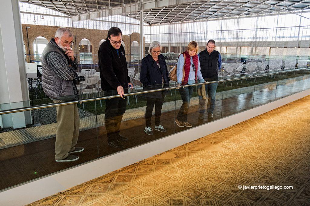 Visitantes en la zona norte de la Villa romana de La Olmeda. Palencia. Castilla y León. España © Javier Prieto Gallego;
