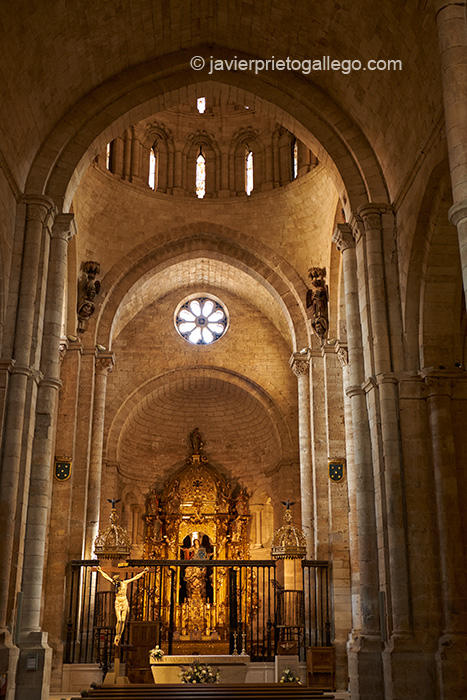 Nave principal. Interior de la Colegiata Santa María la Mayor. Toro. Castilla y León. España © Javier Prieto Gallego