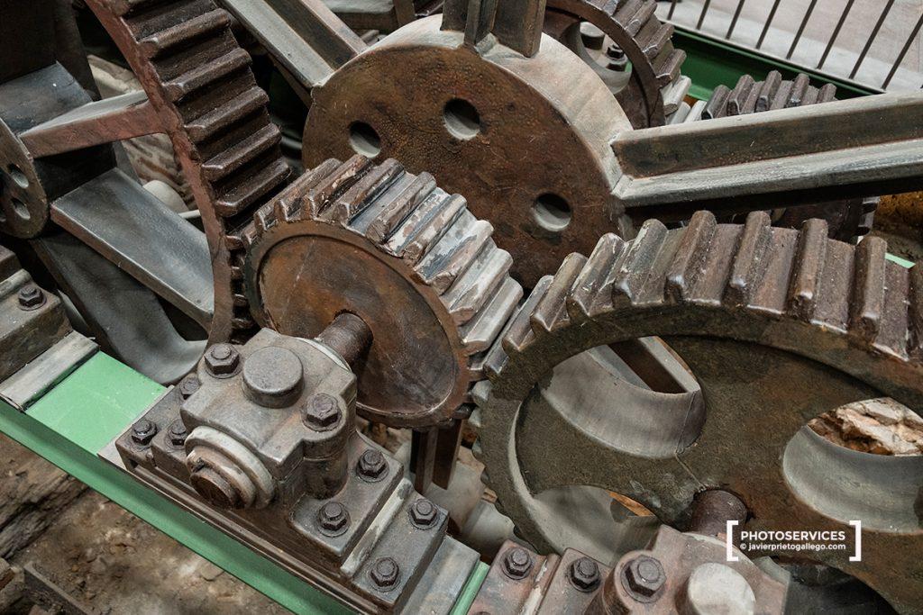 Engranajes de la máquina de vapor. Museo de la Siderurgia y la Minería de Castilla y León. Sabero. León. Castilla y León. España © Javier Prieto Gallego