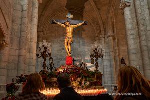Santísimo Cristo de la Preciosa Sangre. Iglesia de La Antigua. Jueves Santo. Valladolid. Castilla y León. España. © Javier Prieto Gallego
